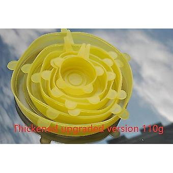Food container covers 6pcs reusable silicone stretch lids universal food wrap cover