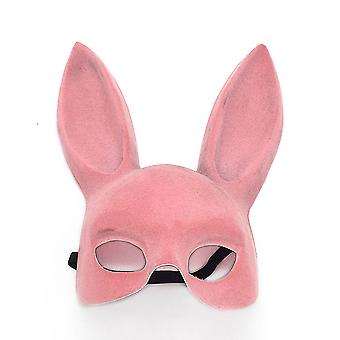 Bunny Mask Masquerade Rabbit Mask Halloween Supplies for Birthday Party Easter Halloween Costume Accessory