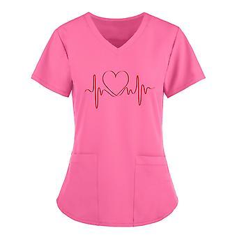 Tops pour femmes Tops manches courtes Travail Impression T-shirt Uniformes médicamenteux