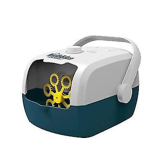 Bubble Blowing Spielzeug Koffer automatische Bubble Maschine Gebläse Party Hochzeit Bühne ein Klick Blase weiß blau