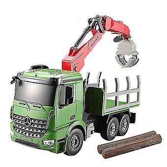 Toy cars rc truck 2.4G high speed car electric model crane truck simulated lights toys for children birthday