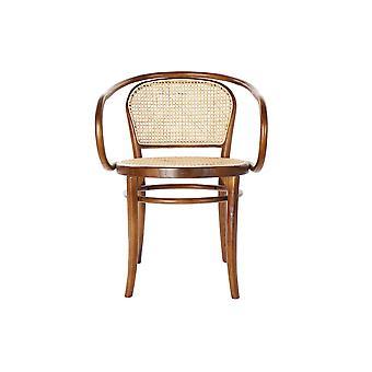 Dining Chair DKD Home Decor Brown Rattan Elm wood (58 x 58 x 79.5 cm)
