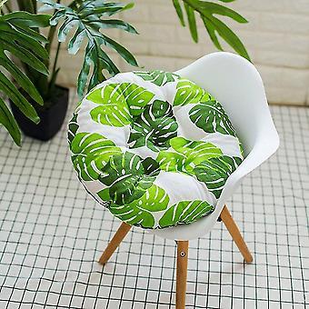 Outdoor Garten Terrasse Stuhl Sitz weiche Baumwolle gefüllte KissenPolster (Kissen) (Blätter)