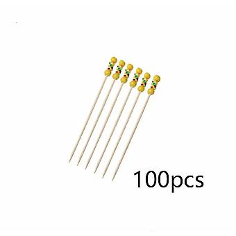 Household Fruit Bamboo Skewers, Disposable, Clean And Hygienic A (100 Pieces)