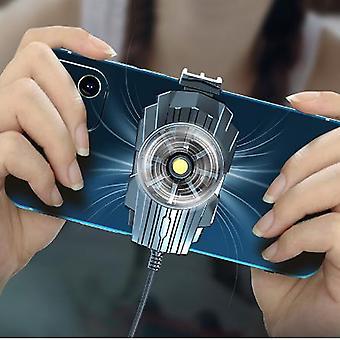 יוניברסל טלפון סלולרי קריר משחק קירור מאוורר מחזיק Gamepad מחזיק מעמד רדיאטור עבור iphone Huawei Suporte Para Fan Gamepad
