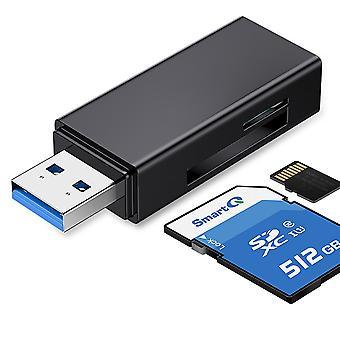 Usb 3.0 Sd / Tf Memory Card Reader, 2 Slots, Card Reader For Sdxc