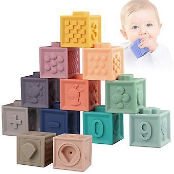 Weiche Bausteine für Kleinkinder Babiesteether Spielzeug Montessori Stacking Spielsachen