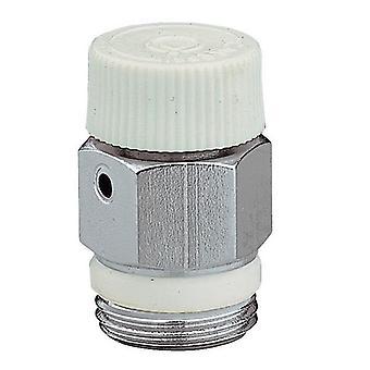 "1/8"" 1/4"" 3/8"" Caleffi Manual Radiator Air Vent Bleed Plug Valve No Need Key"