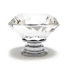 Boolavard® TM 30mm Clear Diamond Crystal Furniture Handle Cabinet Cupboard Wardrobe Door Knob Drawer Pull Knobs