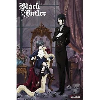 Negro mayordomo Sebastian y Ciel Anime Poster Poster Print