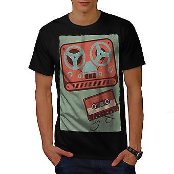 Old Retro Mix Tape Men BlackT-shirt | Wellcoda