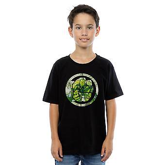 Marvel Boys Avengers Hulk Montage Symbol T-Shirt