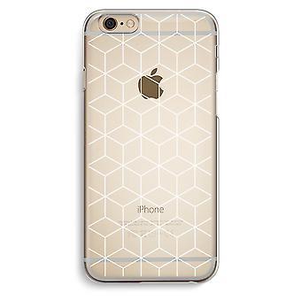 IPhone 6 6 s transparentes Gehäuse (Soft) - Würfel schwarz / weiß