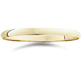 2mm 14K Yellow Gold Comfort Fit Plain trouwring