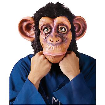 Comical Chimp Monkey Ape Animal Tarzan Jungle Mens Costume Overhead Mask