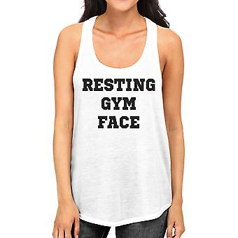RGF Womens White Humorous Gift Tanks Funny Workout Tank Top Gifts