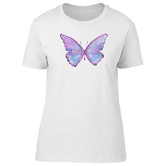 Papillon Violet et bleu Tee femmes-Image de Shutterstock