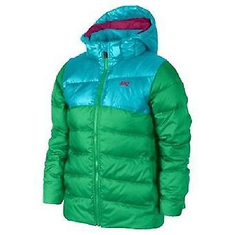 Nike meisjes Alliance 550 Hooded vest groen/blauw klein
