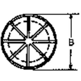 PB do prendedor AF1093 cabo ilhó com fenda PA 6.6 preto