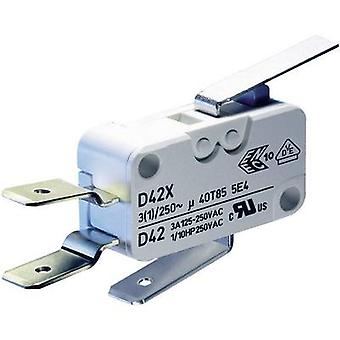 ZF Microswitch D459-V3LD 250 V AC 16 A 1 x On/(On) momentary 1 pc(s)