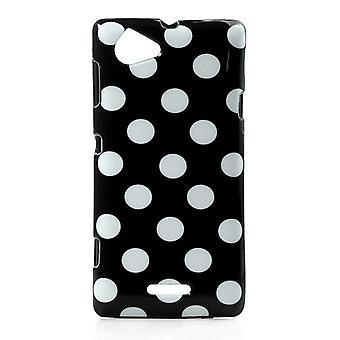 Beskyttende dække for phone Sony Xperia L S36h sort / hvid