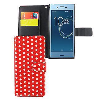 Mobile matkapuhelin Sony Xperia XZs pilkullinen punainen tapauksessa laukku