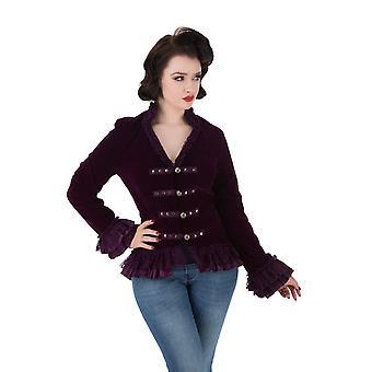 H & R do casaco de veludo roxo vitoriana 10