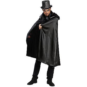 Cape czarne męskie kostium Belzebub Cape karnawał