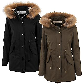 Urban classics ladies parka Sherpa lined Peached