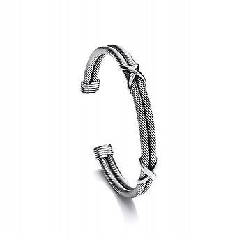 Cavendish franske sølv dobbelt kys Cuff armbånd
