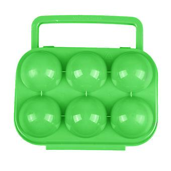 TRIXES Portable 6 Egg Box Hard Case Camping