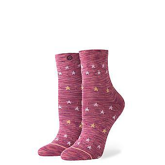 Stance Morning Star Ankle Socks in Maroon