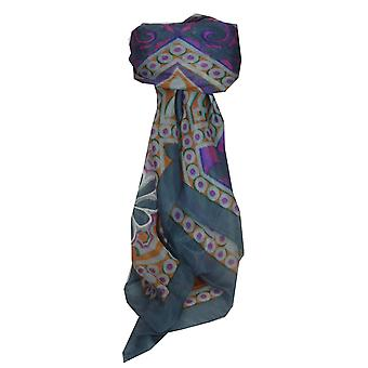 Mulberry Silk Contemporary Square Scarf Madhu Quartz by Pashmina & Silk