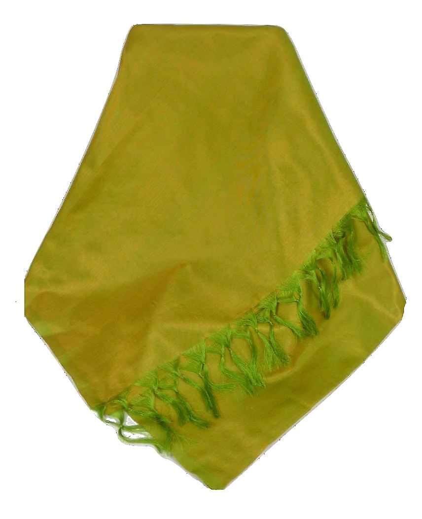 Varanasi Silk Long Scarf Heritage Range Prasad 3 Gold by Pashmina & Silk