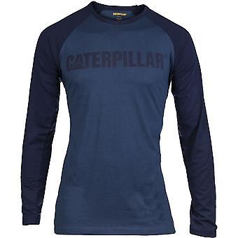 Caterpillar Mens Baseball Contrast Raglan Longsleeve T Shirt