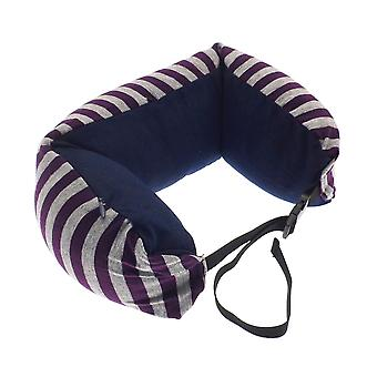Globetrek International Stripe Neck Pillow, Purple