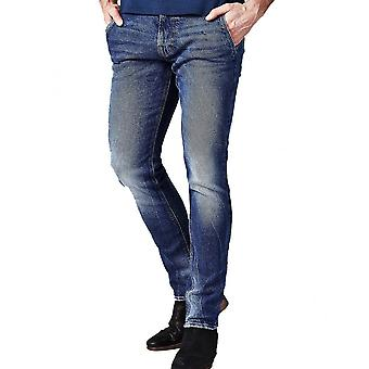 GUESS Adam Skinny Fit Blue Wash Jeans