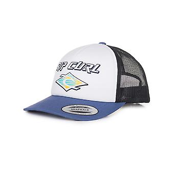Rip Curl Trucker Snapback Cap ~ Back To The white