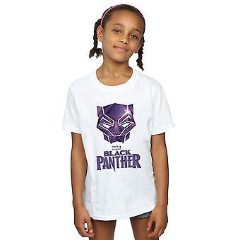 Marvel Girls Black Panther masker Logo T-Shirt