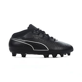 Puma één 4 FG Firm Ground Kids voetbal Boot Eclipse zwart/zilver