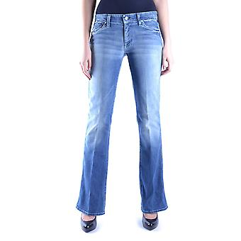 7 For All Mankind Ezbc110015 Women's Blue Cotton Jeans