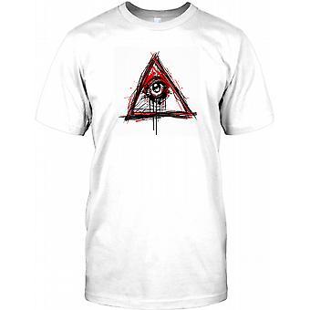 New World Order Illuminati - All Seeing Eye Kids T Shirt