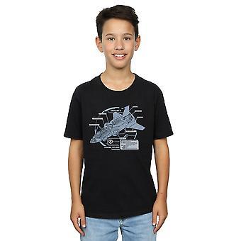 Marvel Boys The Avengers Quinjet Breakdown T-Shirt