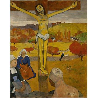 黄色のキリスト、ポールゴーギャン、50x40cm