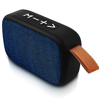 Altoparlante Bluetooth Micro-SD presa USB Jack 3,5 microfono FM Radio blu