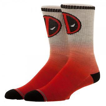Crew Sock - Marvel - Deadpool Ombre New Licensed cq4tmcmvu
