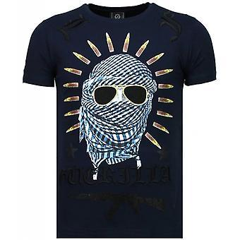 Freedom Fighter-Rhinestone T-shirt-Blau