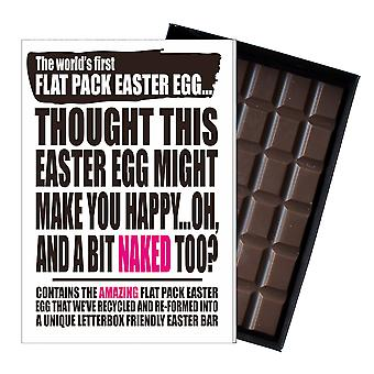 Funny flat påske egg Chocolate Bar gratulasjonskort gave kjæreste UK EIYF114