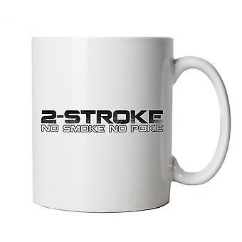 2-Stroke No Smoke No Poke Biker, Mug | Engine Cycle Chopper Triumph Throttle Lifestyle | Jacket Outlaw Gang Stroke Speed Bike Speedway | Motorbikes Cup Gift