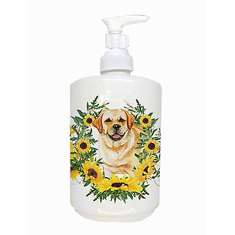 Carolines Schätze CK2856SOAP Golden Retriever Keramik Seifenspender